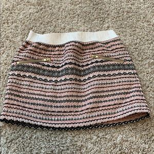 Adorable girl's tweed mini skirt